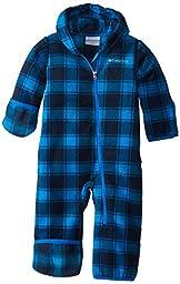 Columbia Baby-Boys Infant Snowtop II Bunting, Hyper Blue Tartan Lumberjack, 18-24 Months