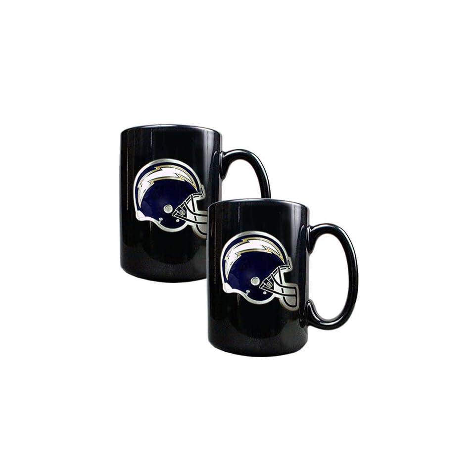San Diego Chargers NFL 2pc Black Ceramic Mug Set   Primary