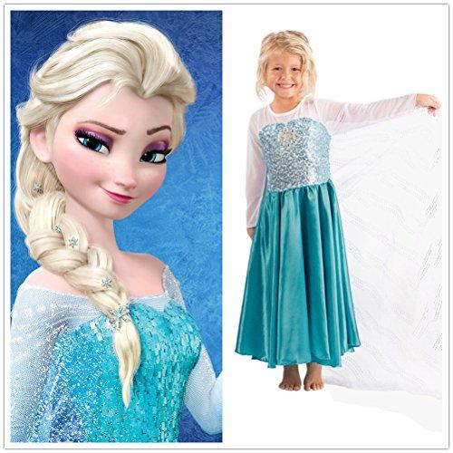 Fun daisy girls snow queen elsa anna costume snow princess dress up
