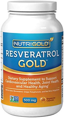 Nutrigold Resveratrol Gold , 500 mg, 120 veg. capsules