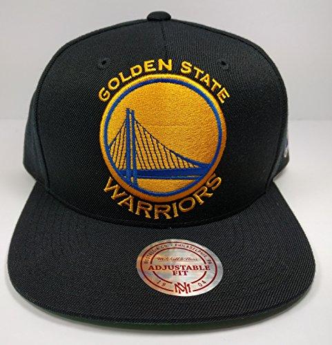 Mitchell & Ness Golden State Warriors STA3 Black XL Logo Adjustable Snapback Hat NBA (Nba Jersey Alternative compare prices)
