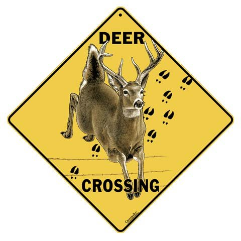 Animal Xing Signs - Deer Crossing All Weather Sign