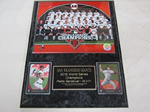 2012 San Francisco Giants World Series Champions 2 Card Collector Plaque #2 w 8x10... by J & C Baseball Clubhouse