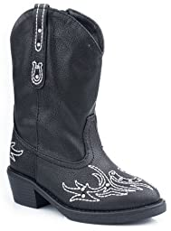 Roper Infant-Girls\' Bling Stitch Cowgirl Boot Black 5 US