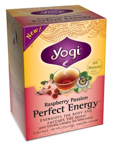 Yogi Tea Raspberry Perfect Energy Tea, 16 Ct