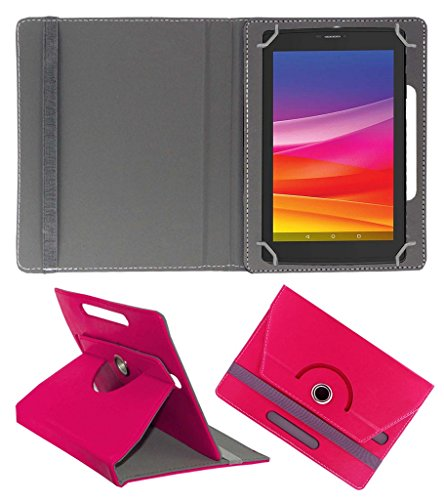 Acm Rotating 360° Leather Flip Case For Micromax Canvas Tab P702 Cover Stand Dark Pink  available at amazon for Rs.149