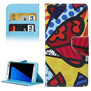 Crazy4Gadget For Samsung Galaxy S7 Edge / G935 Colorful Splice Pattern Horizontal Flip Leather Case with Holder & Card Slots & Wallet