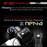 RFN-4 (RF-902) Wireless & Cable Shutter Release for Olympus DSLR Cameras RM-UC1 USB (Olympus OM-D E-M1, E-M5, E-30, E-620, E-520, E-510, E-420, E-410, PEN E-P5, E-PL5, E-PL3, E-PL2, PEN E-P3, E-PM1, EP-2, EP-1, SP-570UZ, SP-560UZ, SP-550UZ, SP-510UZ, SZ-30MR, Stylus 1)