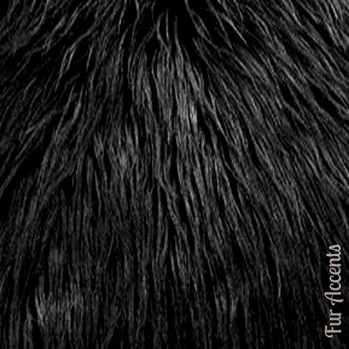 Fur Accents Classic Black Bear Skin Accent Rug Plush Faux Fur 8'