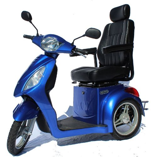 Challenger Sport Fast Electric Mobility Scooter Fast 15 Mph Gt Fast Trike - Blue