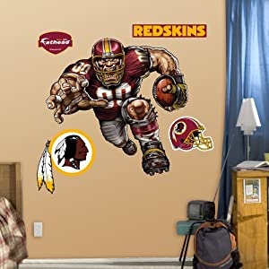 NFL Washington Redskins Raging Redskin Wall Graphics by Fathead