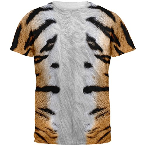 Halloween Tiger Costume All Over Adult T-Shirt