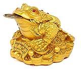 三本脚 の 蛙 銭蛙 風水 開運 置物  招財 護符 付き