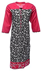 Zele Women's Cotton Straight Kurti (Z0005 BIG_Multi-Colour_X-Large)