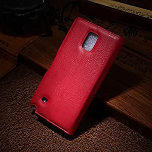 Galaxy Note 4 Book Style Case, HQF Wallet Case with Kickstand Feature - [PU Leather Case] Flip Stand Leather Case Book Cover with Credit Card Slots for Samsung Galaxy Note 4(Red)