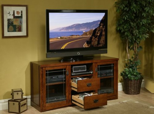 Kathy Ireland Home by Martin Furniture Pasadena Wood Plasma TV Stand in Brown Finish