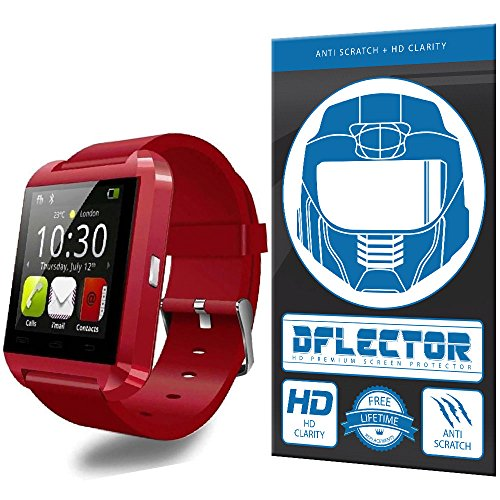 DFlectorshield Premium Scratch Resistant Screen Protector for the Soyan 2015 New U Watch Bluetooth Smartwatch Screen Mate