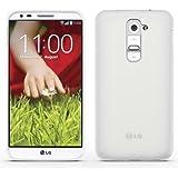 Silikon Tasche für LG G2 Smartphone (13,2 cm (5,2 Zoll) Hülle Case Schutzhülle Handy Schutztasche Cover TPU weiß transparent