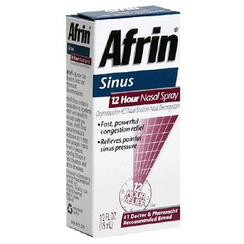 Afrin Sinus 12 Hour Nasal Spray, Decongestant - .5 fl oz
