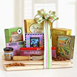 Easter Spring Gourmet -Delicious Tazo Tea, Cheese, and Cookies Gift Set
