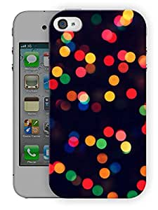 "Humor Gang Light Dots Printed Designer Mobile Back Cover For ""Apple Iphone 4-4S"" (3D, Matte, Premium Quality Snap On Case)"