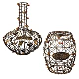 Grasslands Road in Vino Veritas Metal Barrel and Decanter Wine Cork Collector, 12-Inch, Assorted, Set of 2