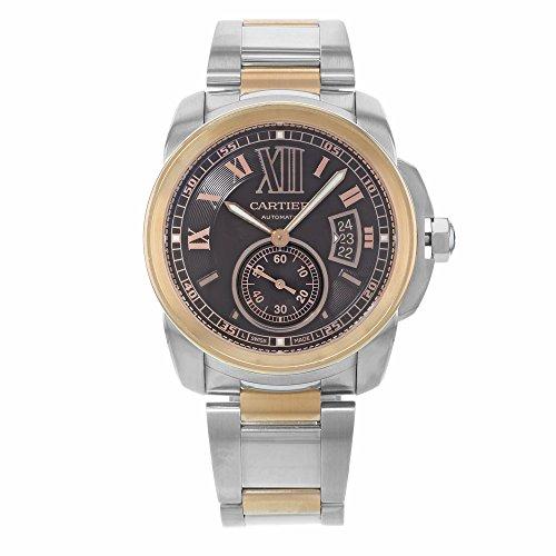 Cartier De Calibre W7100050 18K Rose Gold & Steel Automatic Men's Watch