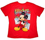 Women's Disney Mickey Mouse Tee shirt Plus Size Coral Red