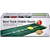 BEST TRACK Putting Mat Edition 2, medium, 300 x 50 cm, including ballstopper, realistic silicone putting-cup, underlay wedges and eraser rod