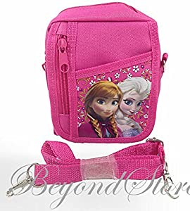 NEW Disney Frozen Elsa and Anna Pink Camera Bag Case Red Bag Handbag