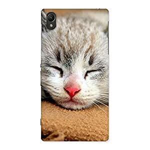 Gorgeous Premium Cute Sleepings Cat Multicolor Back Case Cover for Sony Xperia Z1
