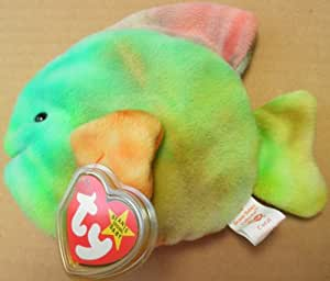 Ty beanie babies coral the fish plush toy for Fish beanie baby