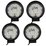 TMH 27w Round Shape 30 Degree LED Work Light Spot Lamp Pack of 4