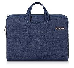 PLEMO Denim Fabric 13-13.3 Inch Laptop / Notebook Computer / MacBook / MacBook Pro / MacBook Air Case Briefcase Bag Pouch Sleeve, Blue