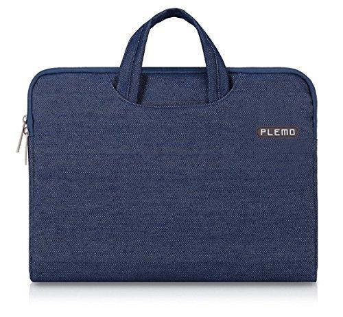 PLEMO デニム生地 PCスリーブ 13-13.3インチ ブリーフケース PCバッグ ブルー