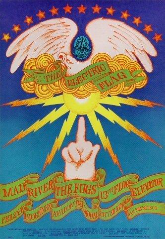 Vintage Music Poster Electric Flag Poster Avalon Ballroom