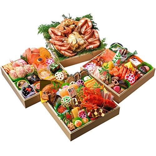 小樽きたいち 海鮮おせち 絢爛 特大8.5寸三段重 全59品 12月30日(水)着のみ