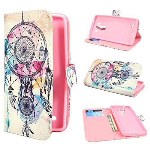 ivencase Dream Catcher Design Wallet PU Leather Stand Flip Case Cover For LG G3 + One