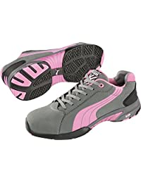Women's Puma Pink and Gray SD Safety Balance Low Steel Toe Sneaker