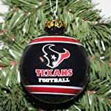 Houston Texans Official NFL 3' Glass Ball Christmas Ornament by Forever Collectibles at Amazon.com