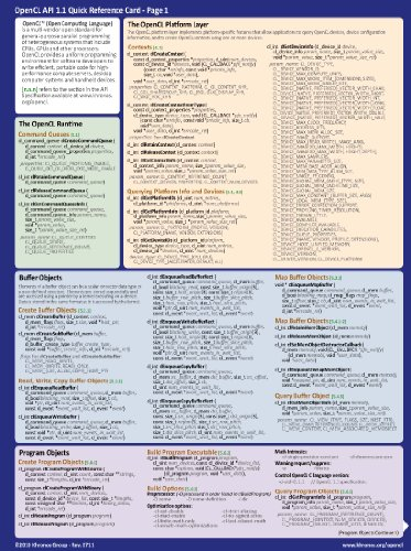 OpenCL 1.1 Official Reference Card