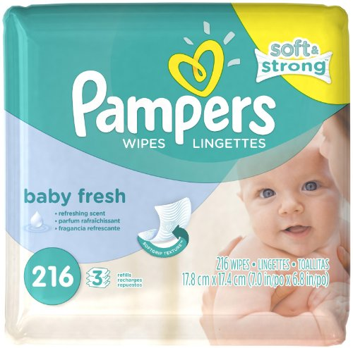Pampers Wipes Refill Pack of 4 Baby Fresh Scented, 864 CT - 1