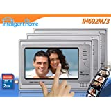 "Video Door Entry Phone Intercom 7"" Touch Screen monitors Trio System Image Recorderby Intelligent Home"