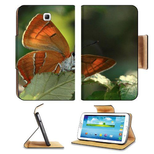 Nature Brown Color Butterfly Insect Samsung Galaxy Tab 3 7.0 Flip Case Stand Magnetic Cover Open Ports Customized Made To Order Support Ready Premium Deluxe Pu Leather 7 12/16 Inch (190Mm) X 5 5/8 Inch (117Mm) X 11/16 Inch (17Mm) Msd Galaxy Tab3 Cases Tab