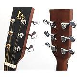 Set Marken Gitarren Mechanik für 4/4 Akustik Westerngitarre verchromt in Öl gelagert