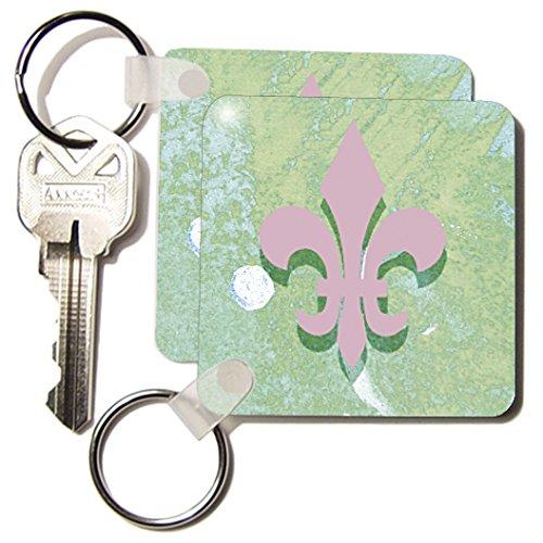 Kc_6465_1 Cassie Peters Digital Art - Fleur De Lis Digital Art - Key Chains - Set Of 2 Key Chains