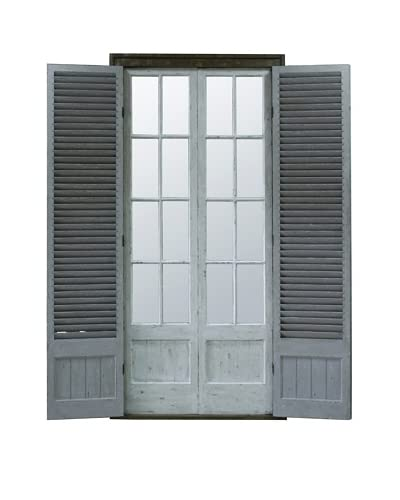 Winward Shutter Window, Distressed White