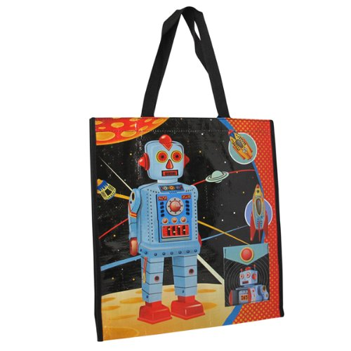 Coelacanth - Super Size Tote - Robot & Rocket front-193133