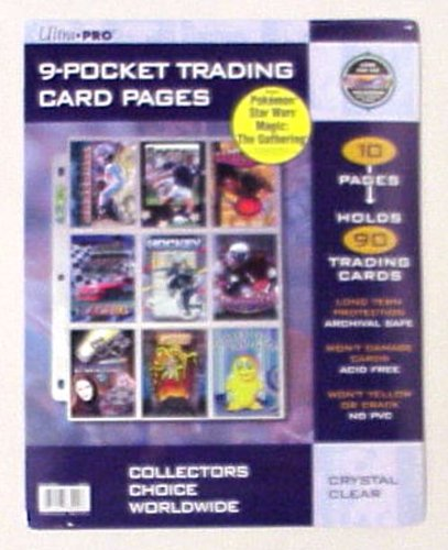 Card Game Supplies Ultra Pro 10 NinePocket Pages Hologram Series