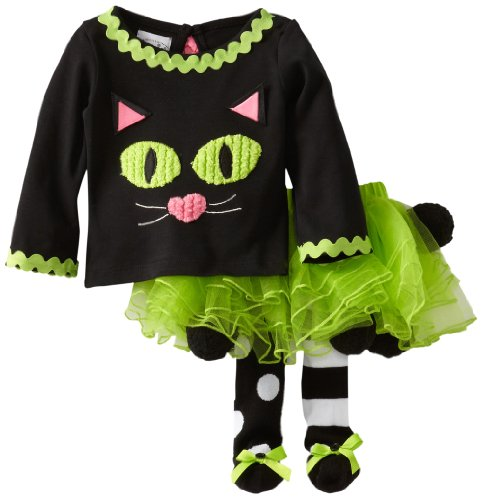 Mud Pie Baby-Girls Newborn Cat Tutu Set, Multi, 9-12 Months front-550768